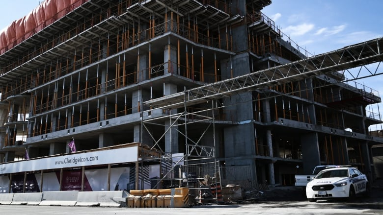 Claridge construction site shut down after worker falls