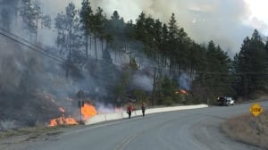 First significant wildfire of 2018 burning near Lytton, B.C.