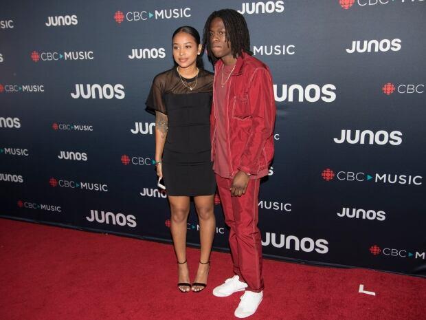 Daniel Caesar arrives at Juno Award Red Carpet show in Vancouver, Sunday March, 25, 2018. Tina Lovgr