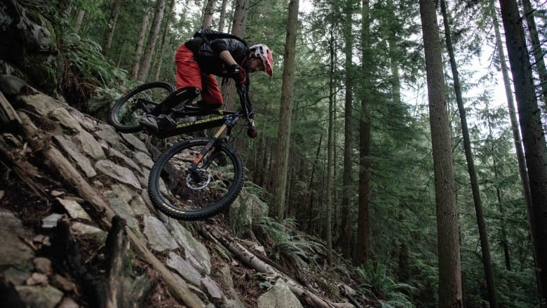 d70f8aeb2b3 Professional mountain biker Wade Simmons says he rides his electric mountain  bike to get more laps in on his favourite trails when he is short on time.