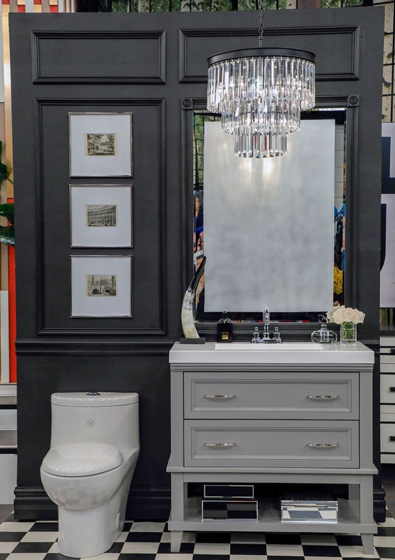 Bold and dramatic or soft and elegant? Two stunning powder rooms and how to get the look