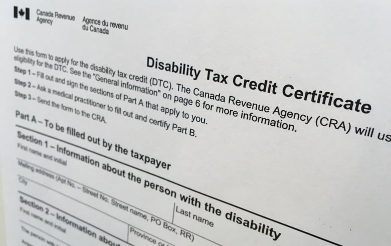 Disability Tax Credit Application