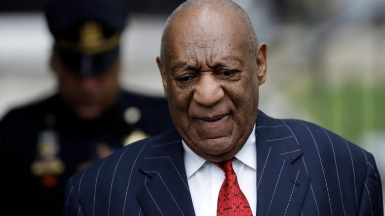 Bill Cosby arrives for a pretrial hearing in his sexual assault case at the Montgomery  County Courthouse in Norristown, Pa., on Thursday.