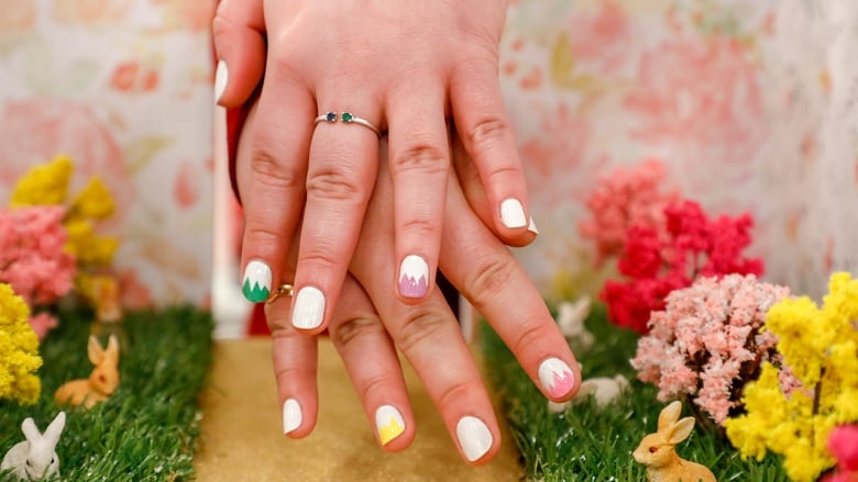 Easy easter nail art you can do with what you already have - Easy nail designs you can do at home ...
