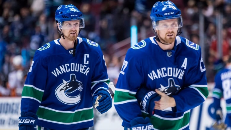 ... Sedin spent their entire NHL careers playing for the Vancouver Canucks.  Their induction into the B.C. Sports Hall of Fame was announced on  Wednesday. c27c804b5