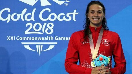Kylie Masse 100 Backstroke Gold Commonwealth Games