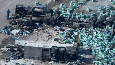 RCMP say multiple factors under consideration in Broncos' team bus crash thumbnail