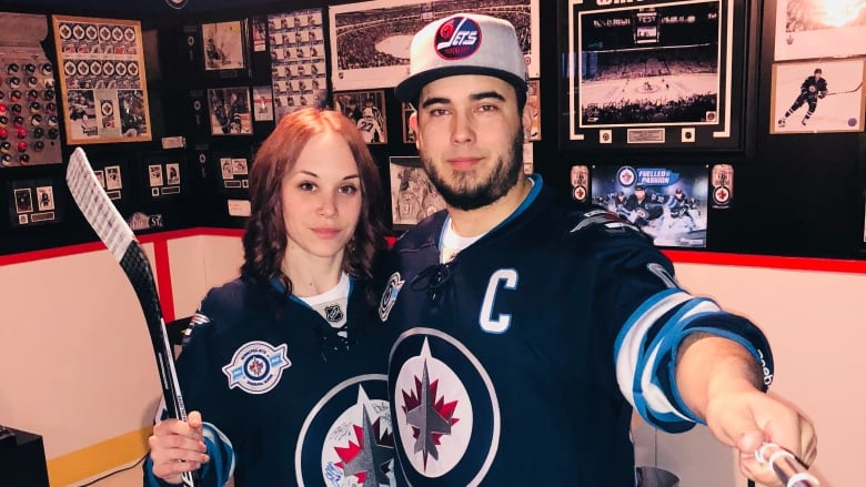 factory price 66dba 75414 Couple's ultimate Winnipeg Jets 'fan cave' a tribute to love ...