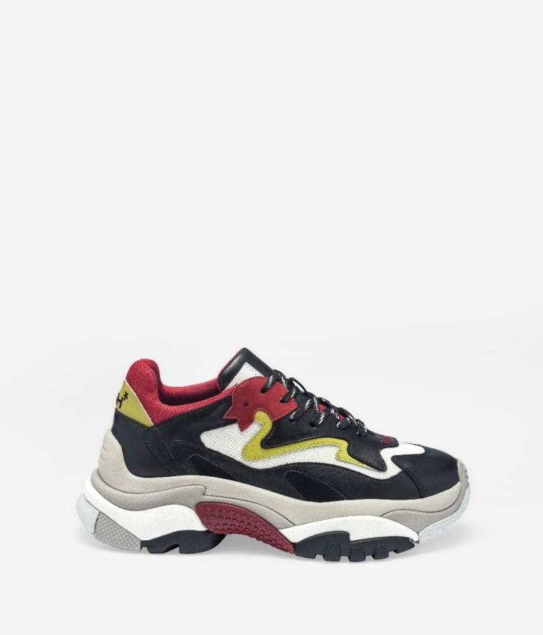 174777f39e07a A little colour can go a long way to make dad sneakers really pop. Ash s  pair makes a serious style statement. Since the colours are an unexpected  mix that ...