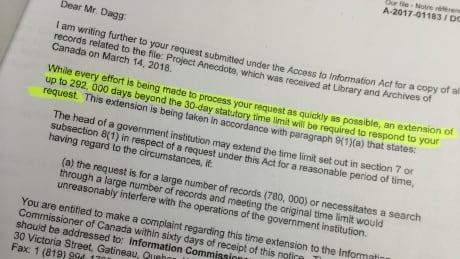 80-year extension on access-to-info request appears to be a record thumbnail