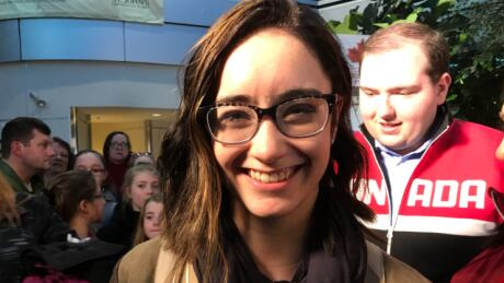Screams, cheers and chants fill St. John's airport as Kaetlyn Osmond arrives home