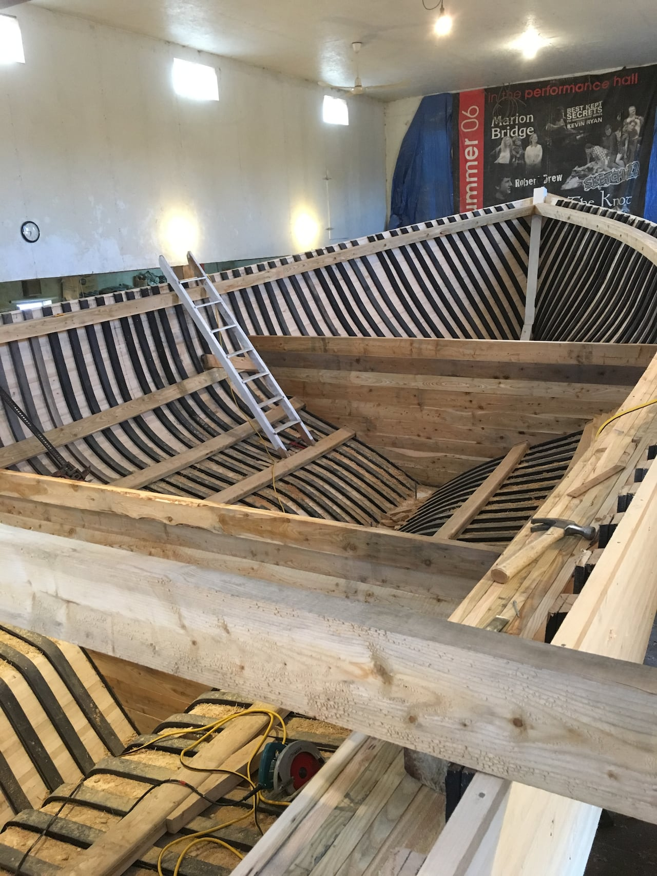 Huge Wooden Boat Being Built Old School On Pei Cbc News