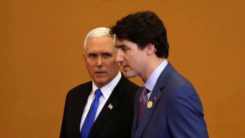 VP Pence meets with Canadian Prime Minister Trudeau over USMCA trade deal