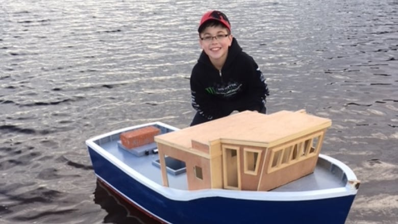 12 Year Old Boat Builder Unveils Jacobs Pride In Winterton Cbc News