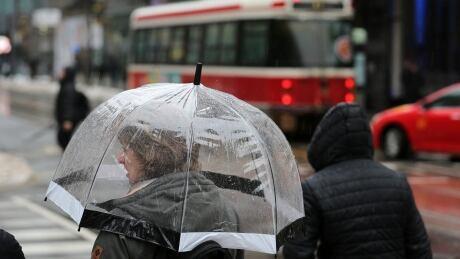 Toronto Heavy Rain Streetcar Commute