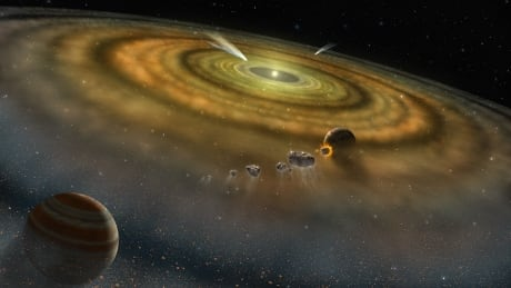 Newly formed planets