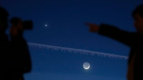 Moon, Venus and Mars