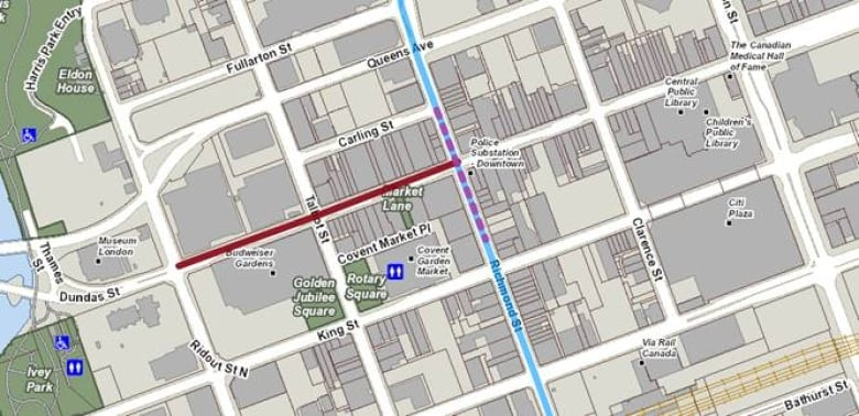 Downtown London Map.Downtown London Construction Means Road Closures Bus Detours Cbc News