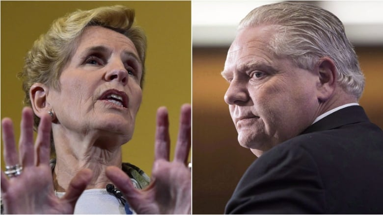 Kathleen Wynne compares Doug Ford to Donald Trump, saying he 'traffics in  smears and lies'