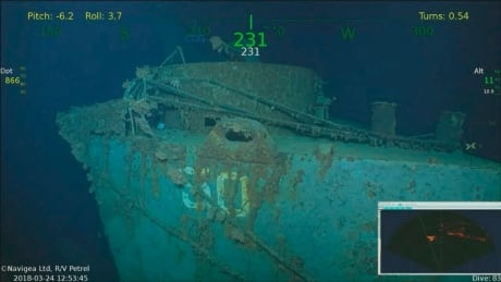 Wreckage of warship sunk by Japanese torpedoes discovered off Solomon Islands thumbnail
