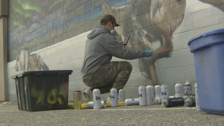 Artists transform a dingy alley in Surrey, B.C., into an arts hub