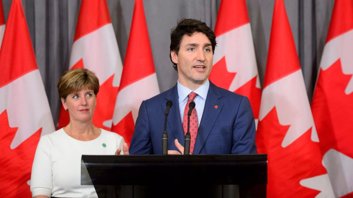 Canadian PM Trudeau Faced With Pipeline Protest in London