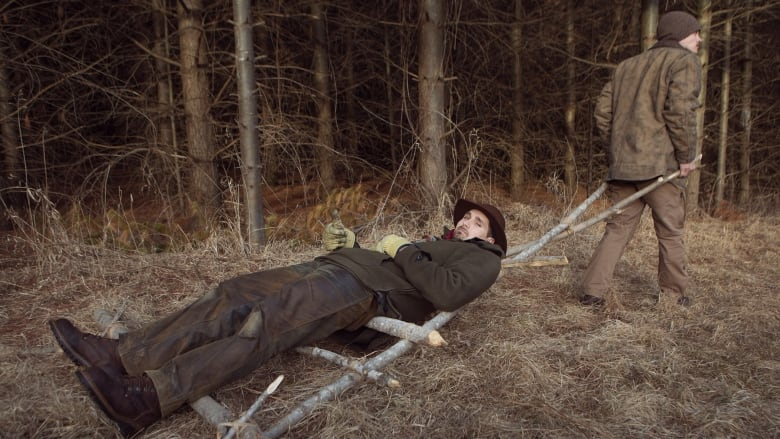 surviving in the wild how to make a travois to pull your goods or