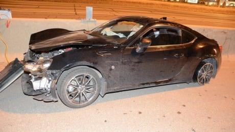 QEW street race crash Guelph Line