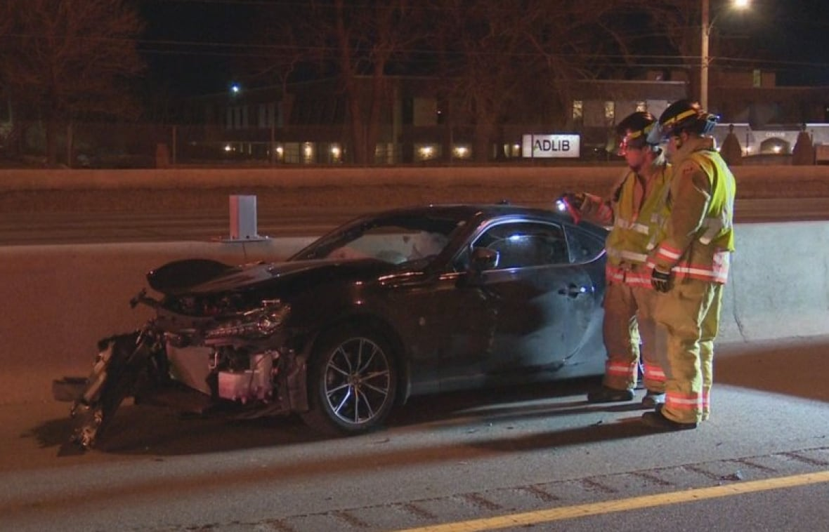 Burlington man dead after suspected street racing crash on QEW