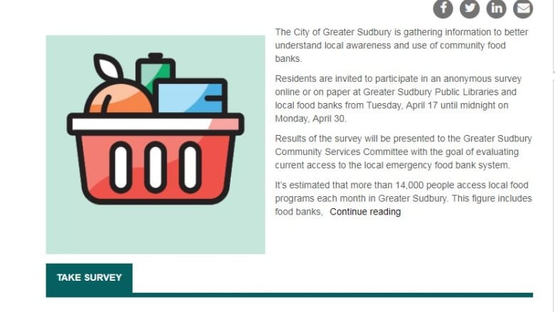 Food bank survey results will come to Sudbury City Council