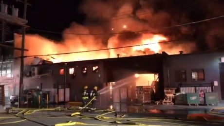 3-alarm fire consumes East Vancouver business