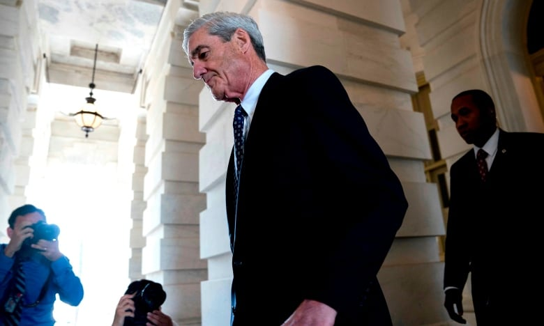 Media reports say Robert Mueller has compiled a list of more than 40 questions to ask the president as part of his probe into Russia's election meddling. They range from Trump's motivations for firing FBI Director James Comey a year ago to contacts Trump's campaign had with Russians.(Andrew Harnik/Associated Press)