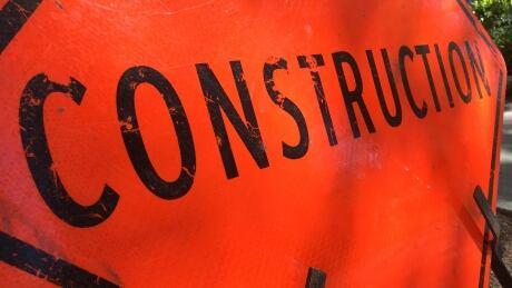 Sidewalk construction sign