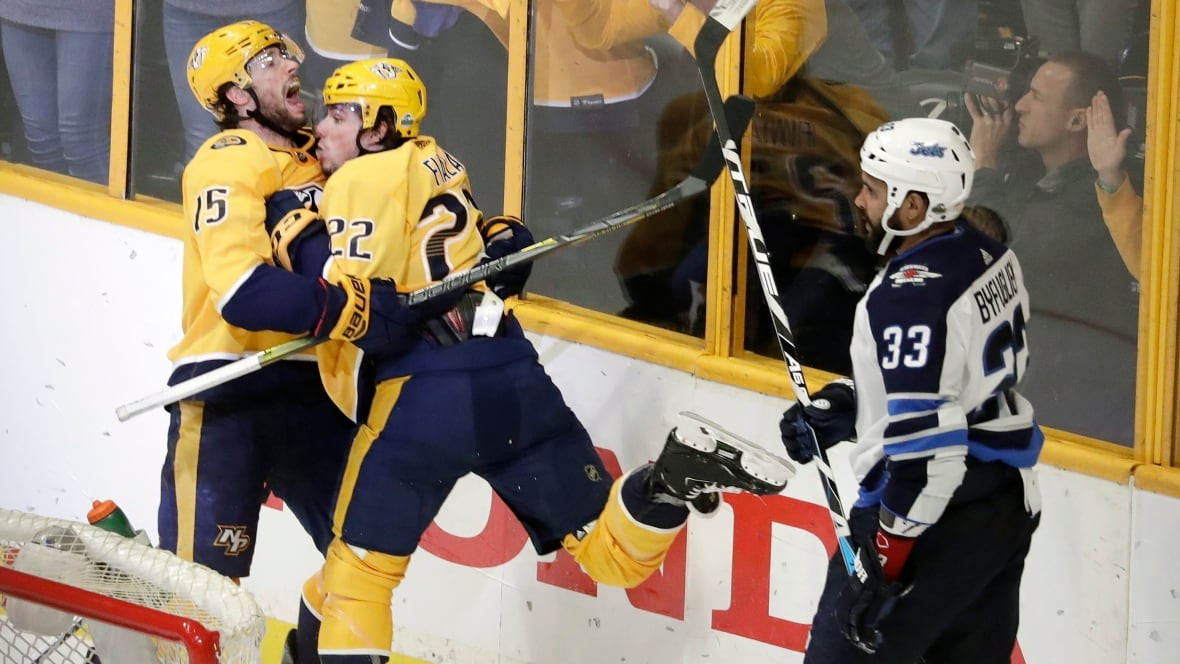 Predators beat Jets in 2OT to even Western semi at 1-1