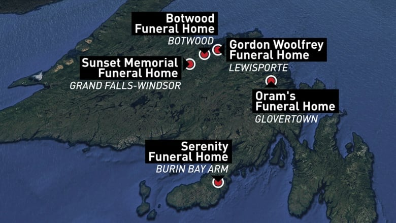 2 N L  funeral homes with suspended licences still offer
