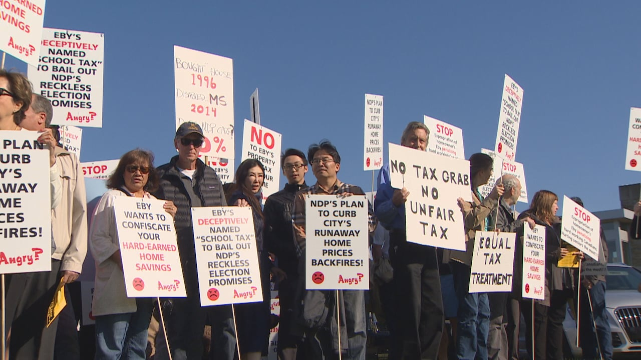 Point Grey residents rally after David Eby postpones school