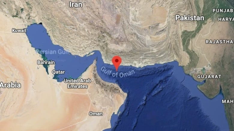 Gulf of oman now worlds largest oxygen depleted dead zone cbc news the oxygen minimum zone omz or dead zone in the gulf of oman covers a majority of the waterway google maps gumiabroncs Choice Image