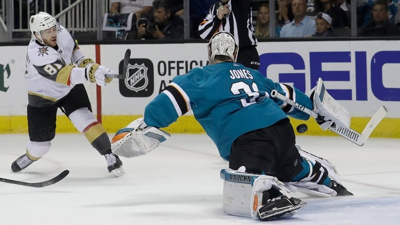 Sharks blank Knights to tie series 2-2; Lightning top Bruins