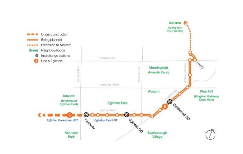 Eglinton Subway Map.Mayor Wants Eglinton East Lrt Project To Scarborough Built In 1 Shot