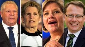 Ontario election 2018 party leaders.