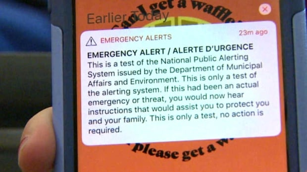 Get ready, Canada: Another emergency public alert test coming Wednesday | CBC News