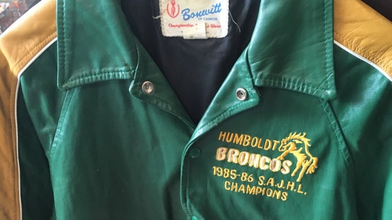 Dave Shyiak s championship Humboldt Broncos jacket from the mid 80s is  pictured here in a Vancouver consignment store. B.C. woman Cheryl Sloane  found it ... d1996a12e7a5