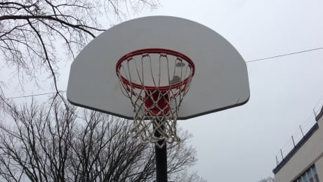 Basketball net at Sir Charles Tupper Elementary
