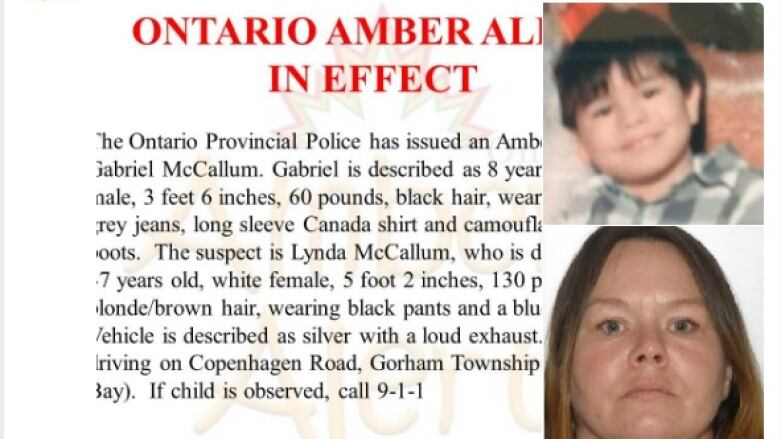 Ontario boy subject of Amber Alert found safe