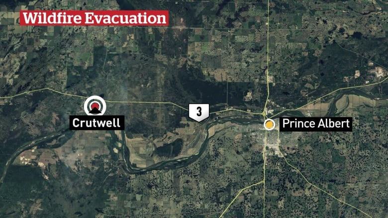 Crutwell, Sask. under evacuation order again due to wildfire