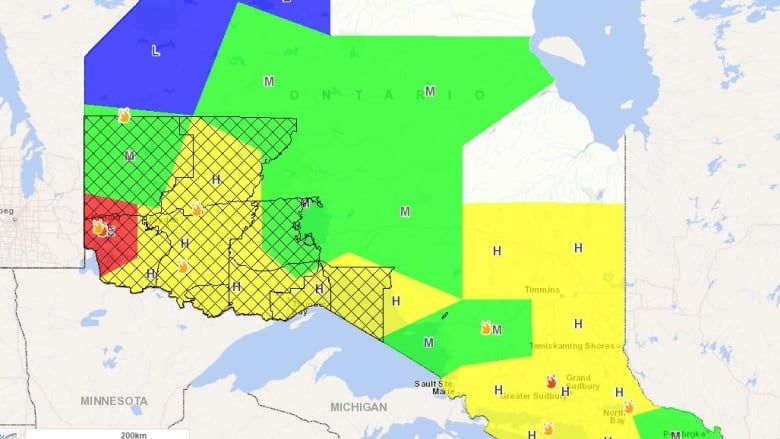Thunder Bay Michigan Map.Fire Bans For Thunder Bay Surrounding Areas In Effect Cbc News