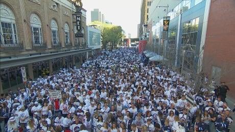 Whiteout crowd Winnipeg