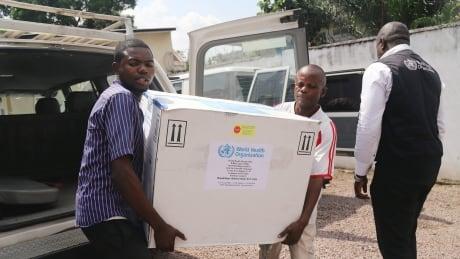 Ebola vaccine shipment