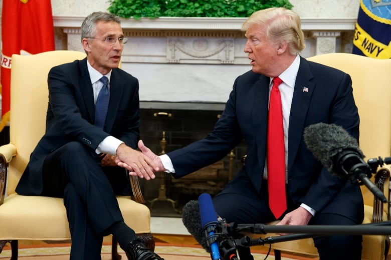 NATO Secretary General Jens Stoltenberg is in Washington to meet with Trump
