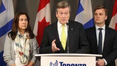 Toronto Mayor John Tory homelessness announcement